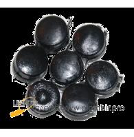 Круглые пластиковые пломбы с металлической вставкой d10 мм (цена за 1 кг.)