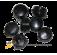 Пластиковые круглые пломбы d10 мм (цена за 1 кг.)